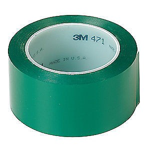 3M 471 Lane Marking PVC Tape Green