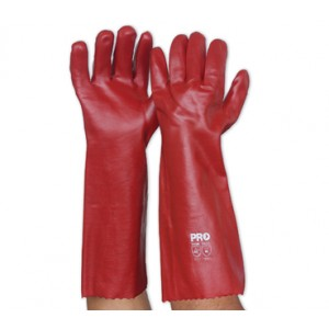 Red PVC Gauntlets Gloves