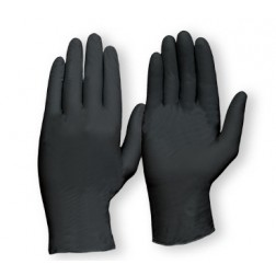 Black Nitrile Gloves Powder Free