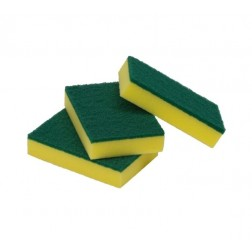 Sponge Scourers Green 100 x 150 x 30mm 10/Pack